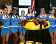 brownies yacht diver at the fort lauderdale boat show with jet lev flight crew