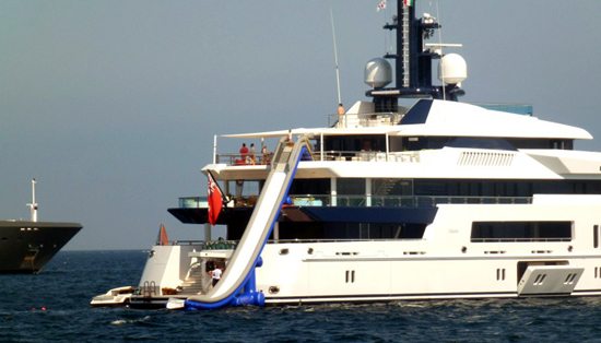 Water Slides for Yachts