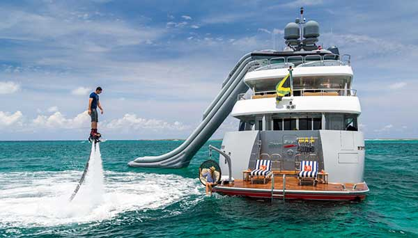 Yacht Water Slides Brownie S Yachtdiver
