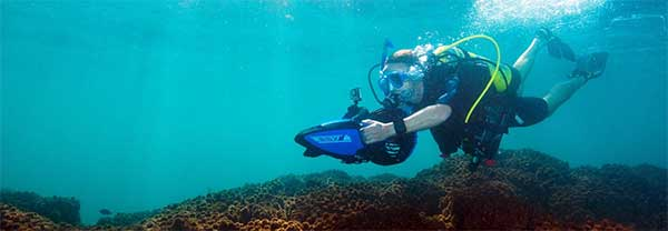 Scuba Dive with Yamaha Seascooters